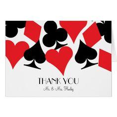 Las Vegas Wedding Thank You Cards Destiny Las Vegas Wedding Thank You Card in White