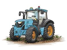 Tractor illustration designed by Josh Chavis. Connect with them on Dribbble; Clip Art Pictures, Pictures To Paint, Tractor Clipart, Baby Zoo Animals, Spongebob Drawings, John Deere Party, Baby Food Jar Crafts, Lion Wallpaper, Graphics Fairy