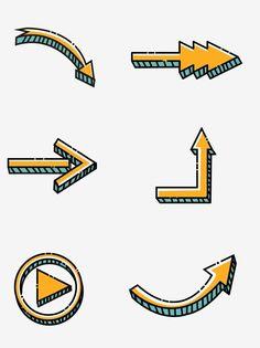Cute Arrow, Cartoon Clouds, Leaflet Design, Drawing Letters, Cute Notes, Free Cartoons, Arrow Design, Cute Stickers, Cute Cartoon