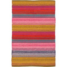 Dash & Albert Gypsy Stripe Cotton Woven Rug (£35) ❤ liked on Polyvore featuring home, rugs, boho area rugs, striped rug, woven area rugs, bohemian rugs and patterned rugs