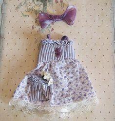 OOAK Custom Märchenland Littlefee winzige YoSD BJD Doll Kleid Lavendel weiße…