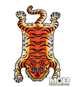 Product in Stock Ships in 1-2 Days Tibetan Tiger Rug 72 inches x 44 inches Hand-tufted 100% Acrylic