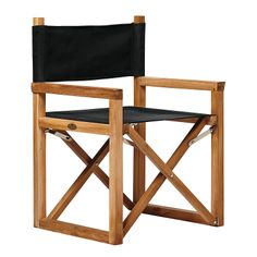 EASY to store. EASY to transport. Directors Chair – Black | Serena & Lily  #patio