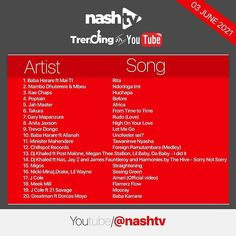 """NashTv on Instagram: """"Congratulations to everyone currently #TrendingonYoutube in Zimbabwe @babaharare_ @maitsdiaries @mambo_dhuterere @mbeuofficial…"""" James Fauntleroy, Let Me Go, Lil Baby, Post Malone, Jay Z, Zimbabwe, Congratulations, Songs, Youtube"""