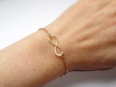Infinity bracelet Gold infinity bracelet Infinity by GemmaJolee