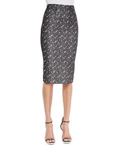 High-Waist Floral Pencil Skirt by Victoria Beckham at Bergdorf Goodman.  Go-to-work window shopping!