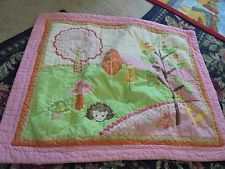Love and Nature Hedgehog quilted sham & sheet set Circo girls room bedding cute