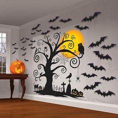 Halloween Wall Scene Halloween Wall Decorations   eBay  september friday 13th 2013