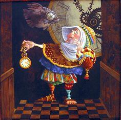 James Christensen - Tempus Fugit (Time Flies) Original Oil Painting