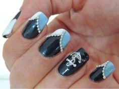 #navy #nail #design