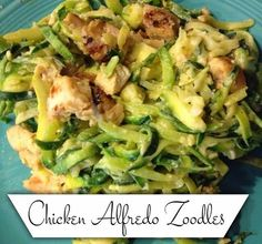 Cashing in on Life: 3 Point Chicken Alfredo Zoodles
