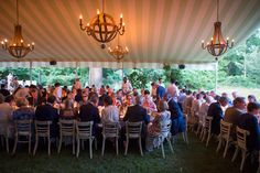 It was so important to us that our wedding feel personal, with family and close friends. Raúl Àvila and his team designed a beautiful striped green canopy for our dinner.