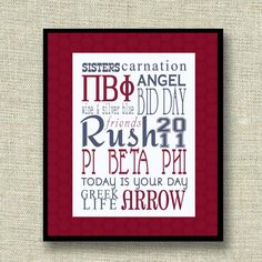 sorority subway art - This would be great for a big/little gift.