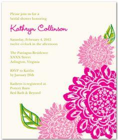 Lilly Pulitzer Bridal Shower Lovelaughter Wedding Invitations Elegant Invites