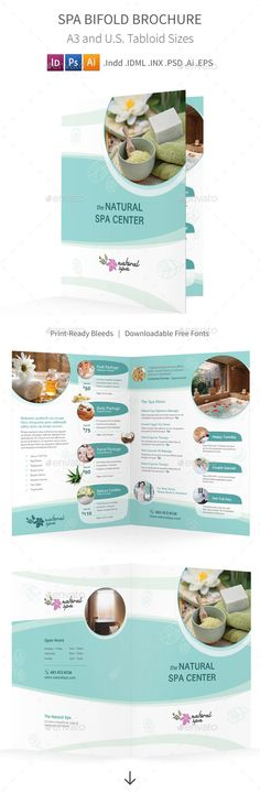 Medical Spa Brochure Template by @StockLayouts Health \ Beauty - medical brochures templates