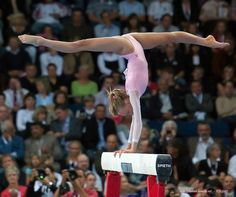 I love this picture!  The way the gymnast points her toes and holds that demanding shape, absolute genius!