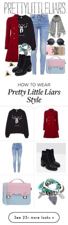 """Pretty Little Liars Inspired"" by kattrileyy on Polyvore featuring G-Star, Emporio Armani, Zara, Casetify, La Cartella, Ariella Collection, contest and pll"