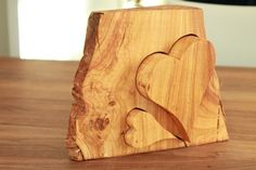 ♥ mal 2 - Holzherzen Block - Puzzle  von pfiati - mit Liebe zum Holz auf DaWanda.com