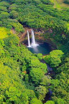 Wailua Falls from the Air ♦ Wailua, Hawaii, United States | by Henk Meijer
