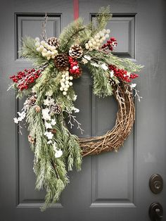 Winter Wreaths Christmas Wreath Evergreen Wreaths Berry