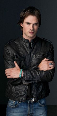 Ian Somerhalder. His bracelet matches his eyes!!