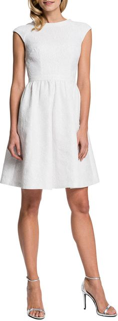 Cynthia Steffe Presley Cap-Sleeve Dress - dress for pear body shape #pearbody
