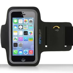 Minisuit SPORTY Armband + Key Holder for iPhone 5/5S/5C, iPod Touch 5 (Black):Amazon:Cell Phones & Accessories