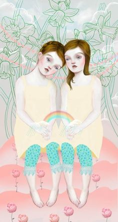 Soft and Sweet by Lisa Falzon  #illustration #painting
