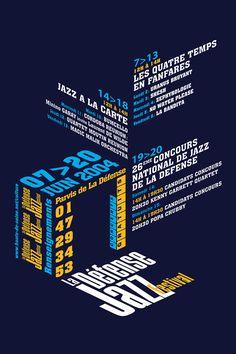 Poster La Défense Jazz Festival - Emmanuel Cloix - Graphic Design
