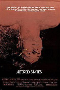 altered states movie poster WILLIAM HURT BLAIR BROWN scientific rare 24X36