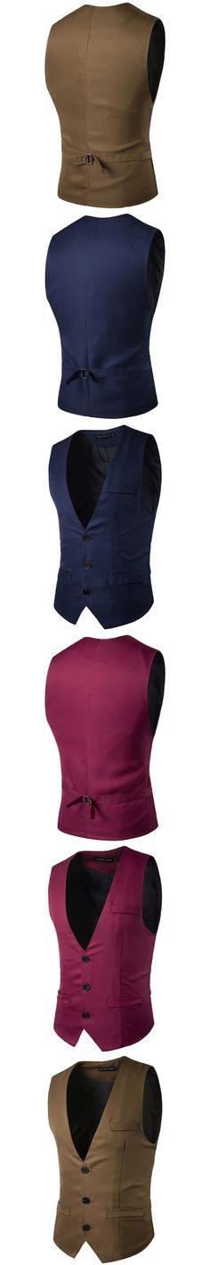 slim fit Best men colete gentleman suit waistcoat prom masculino Vest Wedding dress V neck erkek yelek chaleco blue black red