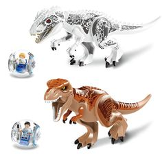 24.37$  Watch now - 2016 2pcs Jurassic World Dinosaur Park Movie  Building Blocks Bricks Toys Tyrannosaurus T-rex  Model Toys  #magazineonlinebeautiful