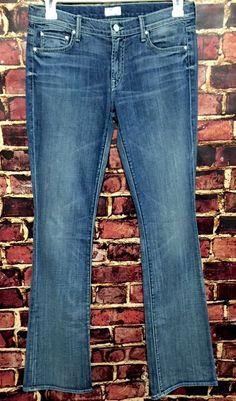 Mother The Outsider Bootcut Denim Jeans Hooked Wash Size 29  | eBay