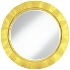 "Lemon Twist 32"" Round Brezza Wall Mirror"