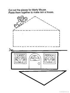 pracovní list domeček
