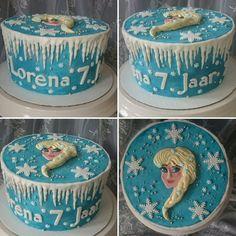 Frozen Birthdaycake by TaartateliervanRoos