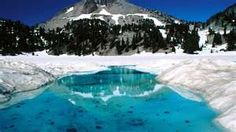 I love Emerald Lake and Lake Helen when snow is melting in the spring. Lassen Volcanic National Park