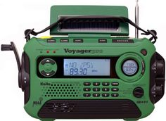Kaito Voyager Pro Digital Solar Dynamo NOAA Wind Up Dynamo Cranking Weather Emergency Radio Smart Phone Charger & RDS and Real-Time Alert - Green - Emergency Alert System, Emergency Radio, Emergency Preparedness, Emergency Supplies, Solar Energy, Solar Power, Radios, Noaa Weather Radio, Weather Alerts