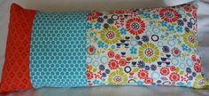 Pillow Cover 12 x 24 Orange Blue Aqua Lime by GwensCreativeCottage, $15.00