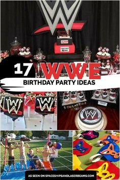 Wrestling Birthday Party Ideas Wwe Party Ideas Pinterest