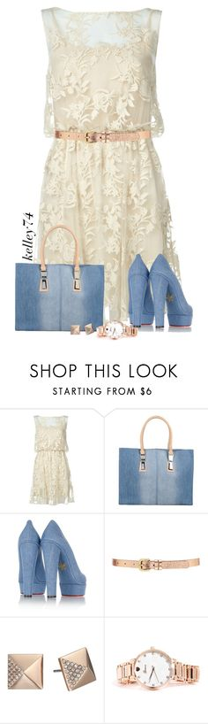 """Denim & Lace Dress"" by kelley74 ❤ liked on Polyvore featuring Alice + Olivia, Diesel, Charlotte Olympia, Forever 21 and Michael Kors"