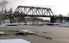 The Train bridge Huntsville Ontario, Bridge, Train, Legs, Attic, Bro
