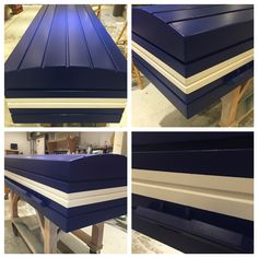 Pine casket coffin painted in eco friendly paint in the team colours of Southend United FC #coffin #pine #pinecoffin #footballfan #eco