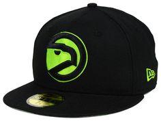 buy online a2c88 f3f27 Atlanta Hawks New Era NBA HWC Black on Color 59FIFTY Cap