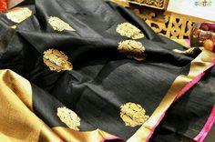 Black Beauty.....Banarasi Tussar Silk Saree