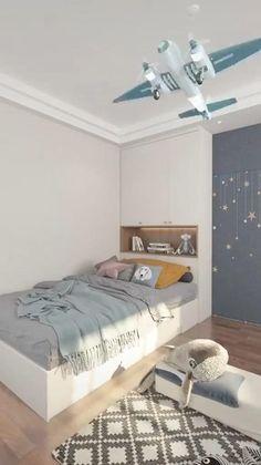 Small Room Design Bedroom, Teen Bedroom Designs, Room Ideas Bedroom, Home Room Design, Kids Room Design, Home Interior, Interior Design Living Room, Kids Bedroom Furniture Design, Bedroom Decor