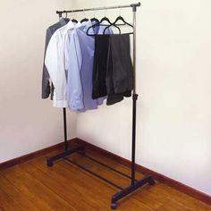 Premier Housewares 4 Peg Wall Hanger - Walnut Wood   Home Discount Dombas Wardrobe, Wardrobe Drawers, Wardrobe Rack, Peg Wall, Drawer Shelves, Garment Racks, Ikea Hackers, Wall Hanger, Walnut Wood