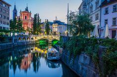Ljubljana... what a beautiful city scene...