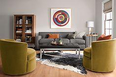 Otis Swivel Chair - - Modern Living Room Furniture - Room & Board Modern Bedroom Furniture, Modern Room, New Furniture, Modern Chairs, Living Room Furniture, Modern Living, Custom Furniture, Small Living, Ottoman In Living Room