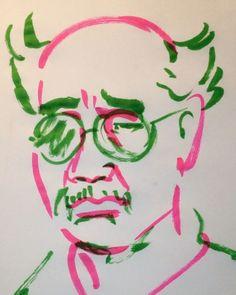 いいね!4件、コメント3件 ― @1mindrawのInstagramアカウント: 「#1mindraw #arakinobuyoshi #荒木経惟 #アラーキー #19400525 #birthday #誕生日 #portrait #筆ペン画」